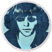 Joey Ramone Round Beach Towel