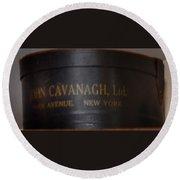 John Cavanagh Hatbox New York Round Beach Towel