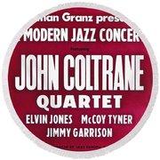 John Coltrane Quartet In Sweden Round Beach Towel