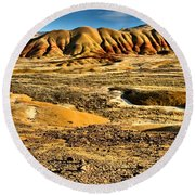 John Day Oregon Landscape Round Beach Towel