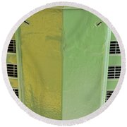 John Deere Grill Round Beach Towel by Susan Candelario