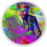 John Fitzgerald Kennedy Jfk In Abstract 20130610v2 Round Beach Towel