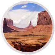 John Ford Point - Monument Valley - Arizona Round Beach Towel