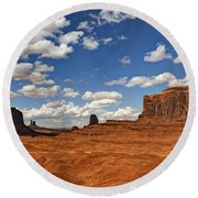 John Ford Point - Monument Valley  Round Beach Towel
