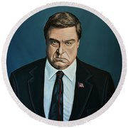 John Goodman Round Beach Towel