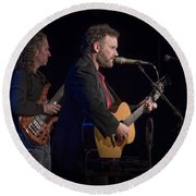 John Gorka And Michael Manring In Concert Round Beach Towel