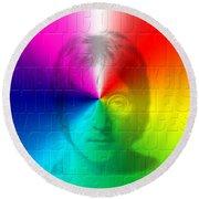 John Lennon 1 Round Beach Towel