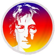 John Lennon The Legend Round Beach Towel