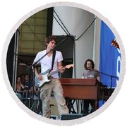 John Mayer And Robbie Mcintosh Taste Of Chicago Round Beach Towel