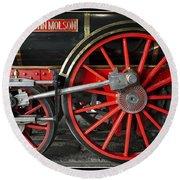 John Molson Steam Train Locomotive Round Beach Towel