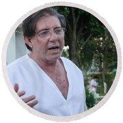 John Of God Round Beach Towel
