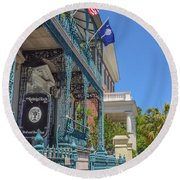 John Rutledge House Round Beach Towel