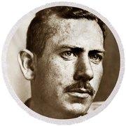 John Steinbeck American Author Circa 1938 Round Beach Towel
