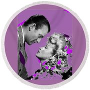John Wayne And Marlene  Dietrich Publicity Photo The Spoilers 1942 Round Beach Towel