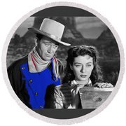 John Wayne Gail Russell Angel And The Badman  Publicity Photo 1947-2012 Round Beach Towel