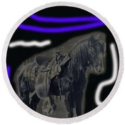 John Wayne The Horse Soldiers Homage #2 1959 C.1880 Round Beach Towel