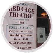 John Wayne's Filmography Bird Cage Theater Tombstone Az  2004 Round Beach Towel