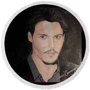 Johnny Depp - The Actor Round Beach Towel