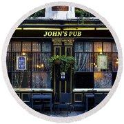 John''s Pub Round Beach Towel