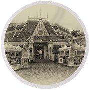 Jolly Holiday Cafe Main Street Disneyland Heirloom Round Beach Towel