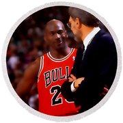 Jordan And Coach Round Beach Towel