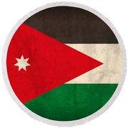 Jordan Flag Vintage Distressed Finish Round Beach Towel