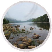 Jordan Pond Round Beach Towel