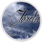 Jordan - Wise In Judgement Round Beach Towel by Christopher Gaston