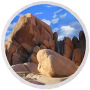 Joshua Tree Anomoly Round Beach Towel