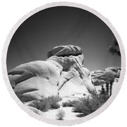 Joshua Tree Holga 6 Round Beach Towel