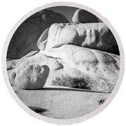 Joshua Tree Rock Round Beach Towel