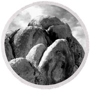 Joshua Tree Rocks Joshua Tree Round Beach Towel