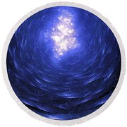 Journey Back To The Surface Round Beach Towel