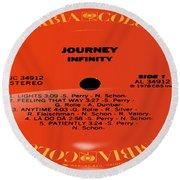 Journey - Infinity Side 1 Round Beach Towel