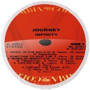 Journey - Infinity Side 2 Round Beach Towel