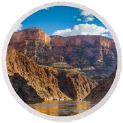 Journey Through The Grand Canyon Round Beach Towel