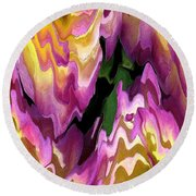 Jowey Gipsy Abstract Round Beach Towel