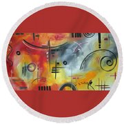 Joy And Happiness By Madart Round Beach Towel