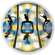 Joy Of Movement Round Beach Towel