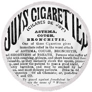 Joys Cigarettes, 1884 Round Beach Towel