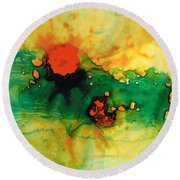 Jubilee - Abstract Art By Sharon Cummings Round Beach Towel