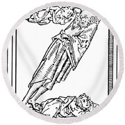 Judaism Zealots Round Beach Towel