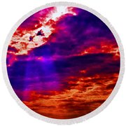 Judgment Day Round Beach Towel