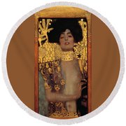 Judith And The Head Of Holofernes - Judith I Round Beach Towel