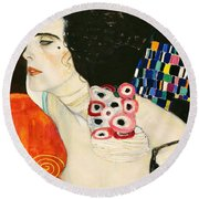 Judith II Round Beach Towel by Gustav Klimt