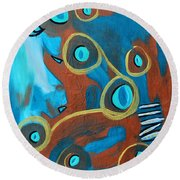 Juggling Act Round Beach Towel