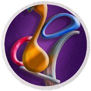 Juggling Act Round Beach Towel by Paul Wear