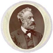 Jules Verne (1828-1905) Round Beach Towel