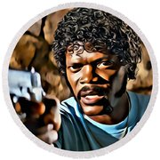 Jules Winnfield Round Beach Towel
