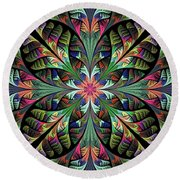Julia Round Beach Towel by Sandy Keeton